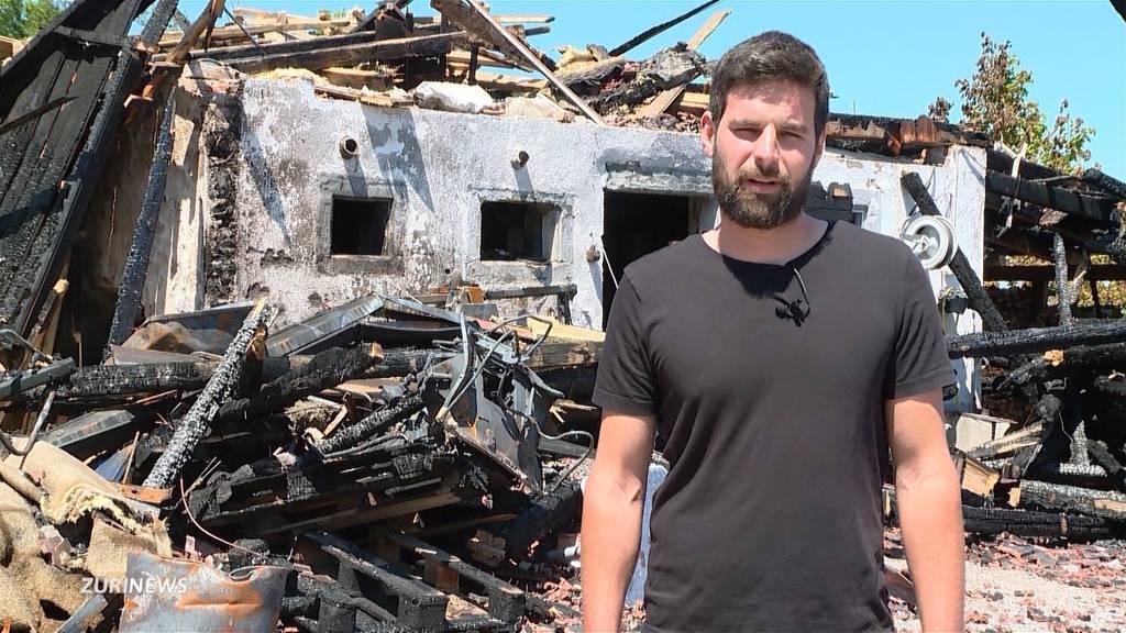 Familie Vassella steht nach dem Brand ihres Hauses vor dem Nichts