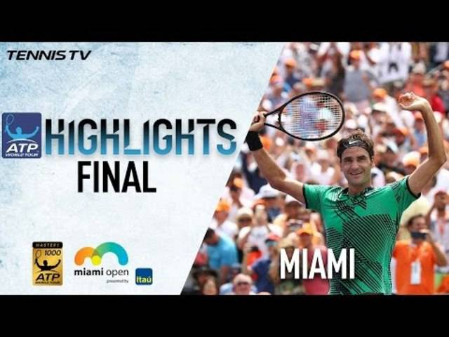 Final von Miami: die Highlights aus dem Match Federer vs. Nadal.