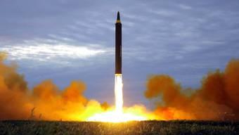 Aufnahme eines früheren Raketentests in Nordkorea. (Archivbild)