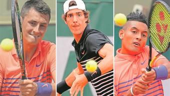 Bernard Tomic, Thanasi Kokkinakis und Nick Kyrgios sind die Hoffnungsträger der Australier.