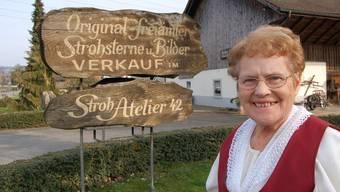Anna Hoppler führte Jahrzehnte lang ihr Strohatelier in Rottenschwil.