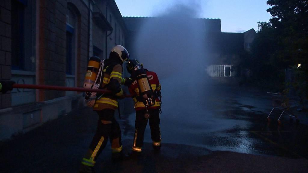 Romanshorn (TG): Brandstiftung in Industriehalle