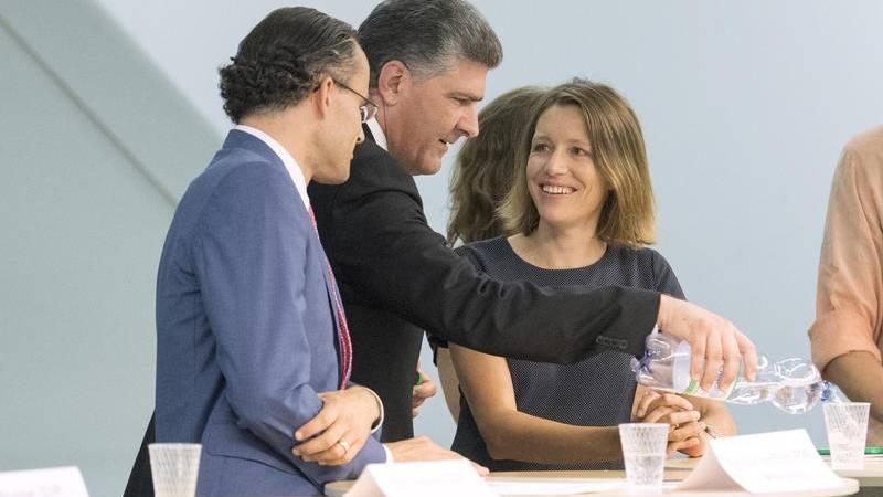 Boris Tschirky und Sonja Lüthi im Vorfeld der Ersatzwahl für den Stadtratsitz in St.Gallen.