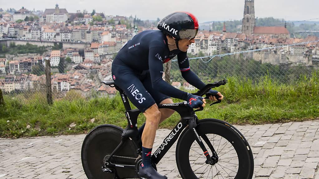 Geraint Thomas sicherte sich dank einem starken Zeitfahren in Freiburg noch den Gesamtsieg an der Tour de Romandie.