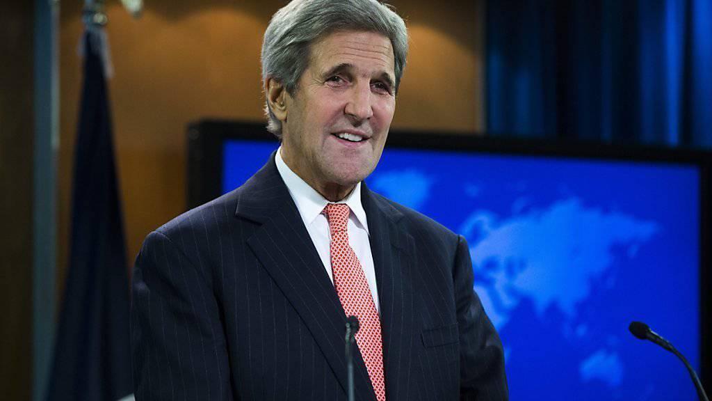 US-Aussenminister will sich in der Gewaltwelle im Nahen Osten als Vermittler einschalten. Er telefonierte am Freitag getrennt mit Israels Regierungschef Netanjahu und Palästinenserpräsident Abbas. (Archivbild)
