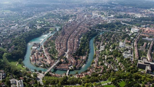 Weltkulturerbe seit 1983: Die Berner Altstadt mit Aare.