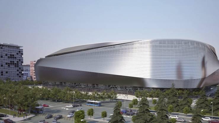 So soll Reals Stadion Bernabeu ab 2019 von aussen aussehen