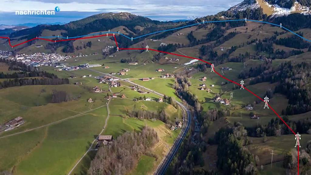 Geplante Stromleitung in Rothenthurm sorgt für Ärger