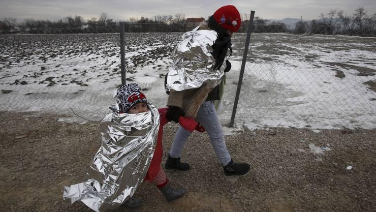 Flüchtlinge in Serbien.