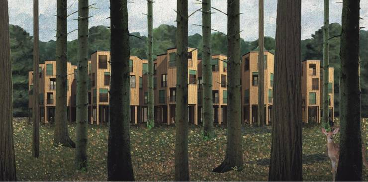 Wenn Wohn- und Erholungsräume kombiniert werden: Ein mögliches Wald-Quartier der Zukunft.