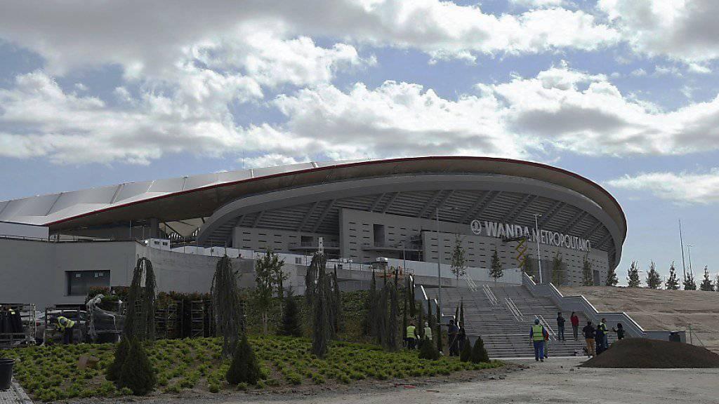 Aussenansicht der neuen Heimstätte von Atlético Madrid: das neue Stadion   «Wanda Metropolitano»