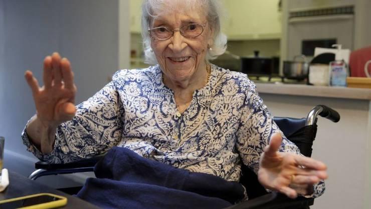 Die 104 Jahre alte Künstlerin Carmen Herrera stellt erstmals ihre Skulpturen in einem New Yorker Park aus. (Archiv)