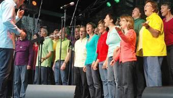 Die Vindonissa Singers sind Stimmungsaufheller. Michael Hunziker