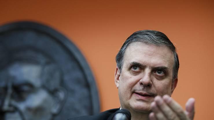 """""""Positive und freundschaftliche"""" Gespräche mit US-Regierungsvertretern: Mexikos Aussenminister Marcelo Ebrard."""