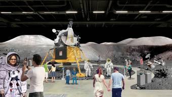 Eine Visualisierung der Messe, wie sie geplant war. Jetzt wird die «LiftOff to Space» zur Roadshow.