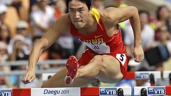 Liu Xiang fliegt über die Hürden, hatte aber zu viel Rückenwind.