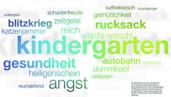 Germanismen im englischsprachigen Raum.