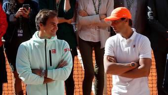 Roger Federer gegen Rafael Nadal: (Fast) immer ein Duell auf Augenhöhe.