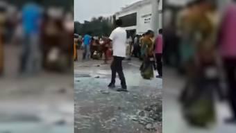 Anschlags-Serie in Sri Lanka