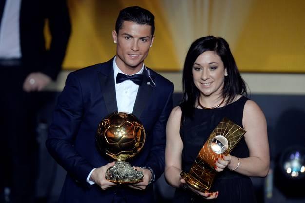 Die beiden Weltfussballer des Jahres 2014: Cristiano Ronaldo und Nadine Kessler
