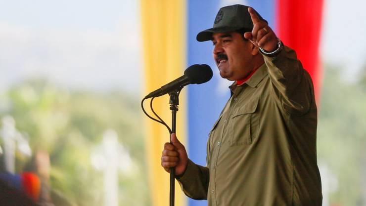 Nach der EU verhängte auch die Schweiz Sanktionen gegen Vertreter der Regierung von Venezuelas Präsident Nicolas Maduro. (Archivbild)