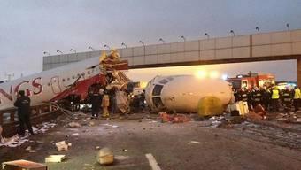 Beim Flugunfall gab es Tote und Verletzte