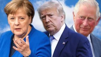 Merkel, Trump und Prinz Charles.