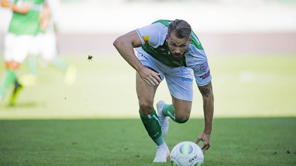 Roman Buess im letzten Spiel gegen Sion, am 29. Juli 2018 im Kybunpark.