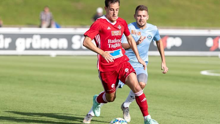 Stefano Cirelli und der FC Baden streben im Auswärtsspiel gegen GC II die nächsten drei Punkte an.