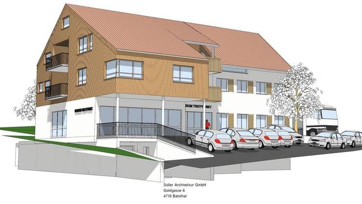 Das Mehrfamilienhaus könnte im Erdgeschoss auch einen Dorfladen beherbergen.