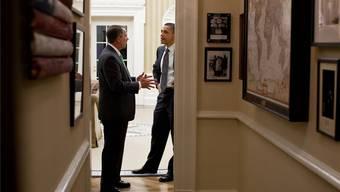 Der demokratische Präsident Barack Obama muss mit dem republikanischen Kongressführer John Boehner zusammenarbeiten.Pete Souza/White House