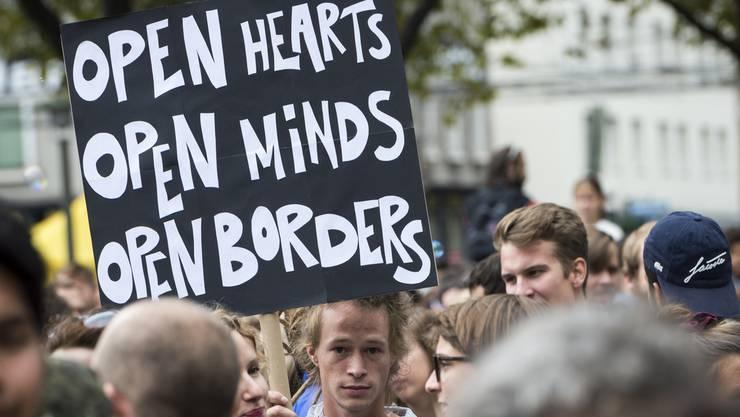 Solidaritätskundgebung für Flüchtlinge in Zürich. (Archiv)