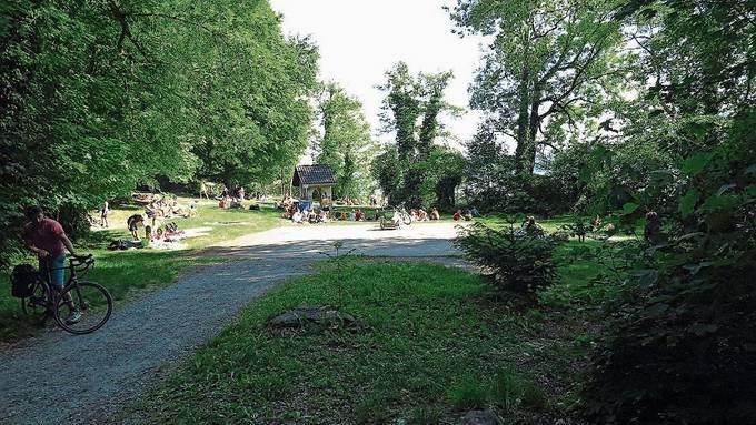 Die Leute genossen das herrliche Pfingstwetter, hier am Hallwilersee.