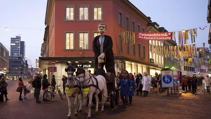 Hieronymus Füdlibürger an der Fasnacht in Baden