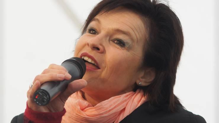 Auch die DRS1-Moderatorin Regi Sager beehrte das Big Band Festival