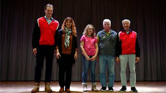 Geehrt: (von links) Gerhard Spycher, Pia Bürki, Nina Hunziker, Hansjörg Kauz und Sepp Rudolf.