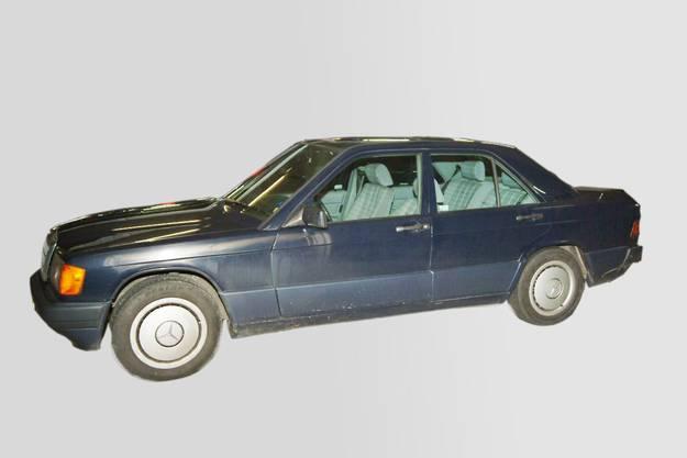 Der Wagen des Opfers: Mercedes Benz 190 E