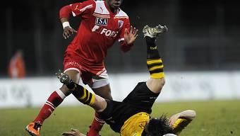 Franck Etoundi traf in Schaffhausen zum 2:1.