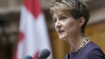 Die frisch gewählte Bundespräsidentin Simonetta Sommaruga (Archiv)