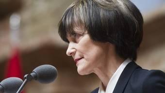 Bis zum Schluss im Einsatz: Noch-Aussenministerin Micheline Calmy-Rey (Archiv)