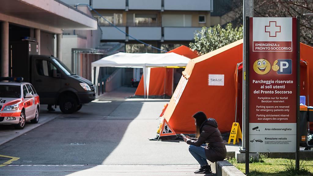 Hier kommen an der Lungenkrankheit Covid-19 leidende Patienten hin: Das Kantonsspital La Carità in Locarno.