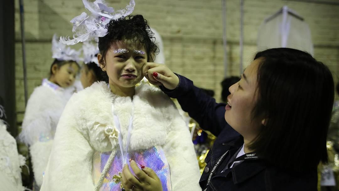 Kindermodels in China zerbrechen am Druck