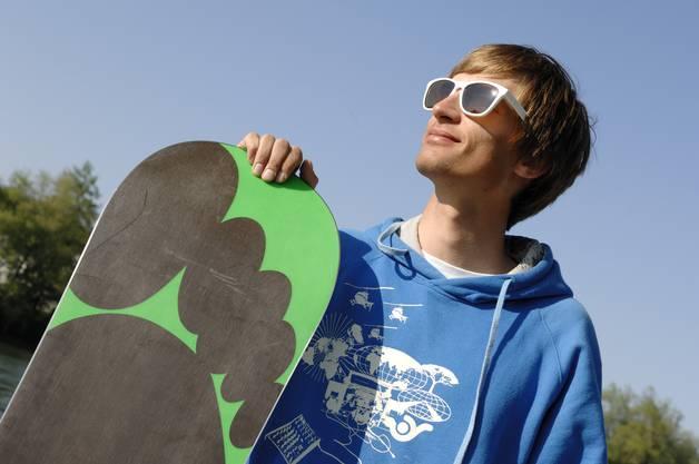 Der Profi-Snowboarder Nicolas Müller aus Aarau