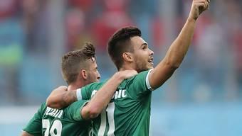 Goran Karanovic (rechts) avancierte für St. Gallen zum Matchwinner