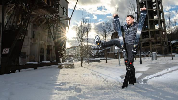 Alex Maienfisch ist ein Ski-Wahnsinniger.