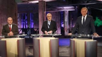 TV-Dreikampf (von links): Gysi, Brüderle und Trittin