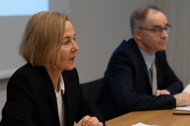 Regierungsrätin Susanne Schaffner an der Medienkonferenz vom Montag.