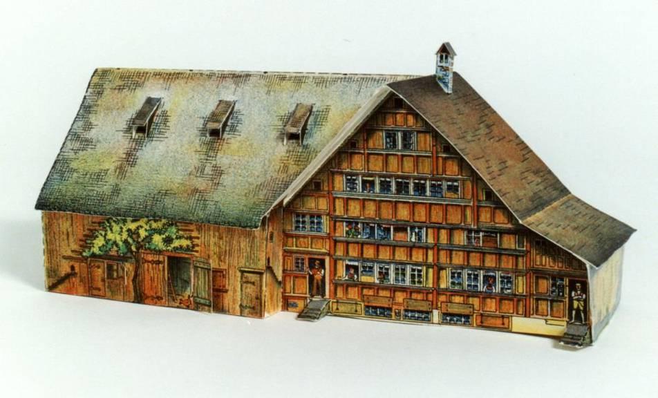Es ging auch etwas einfacher und trotzdem schön. Mit dem «Appenzellerhaus» zum Beispiel. (Bild: zVg)