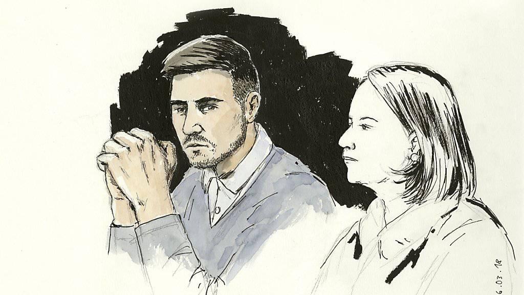 Der wegen des Vierfachmordes von Rupperswil zu einer lebenslänglichen Freiheitsstrafe Verurteilte (links) wehrt sich gegen die ordentlicher Verwahrung.