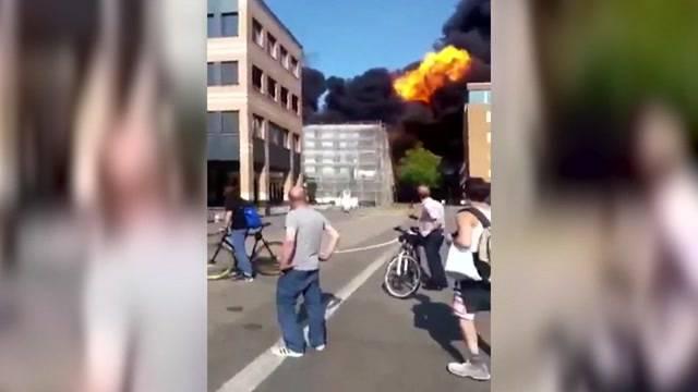 Flammen, Rauch und Explosionen in Olten